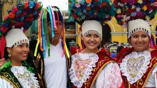 Peruvian dance costumes.