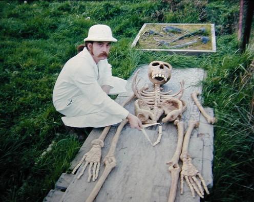 Skeleton of alleged Bigfoot creature