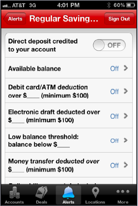 Bank of America is just one of the banks that offers real-time alerts for a variety of activities. Alerts like these make monitoring your finances easier than ever