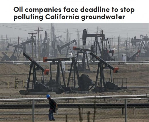 Seven oil companies, including petroleum giant Chevron, have been given until the end of the week by state officials to stop their decades-old practice of injecting oily wastewater into Central Valley aquifers or face penalties.