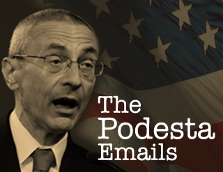 "Image from Wikileaks page for ""John Podesta Archive"""