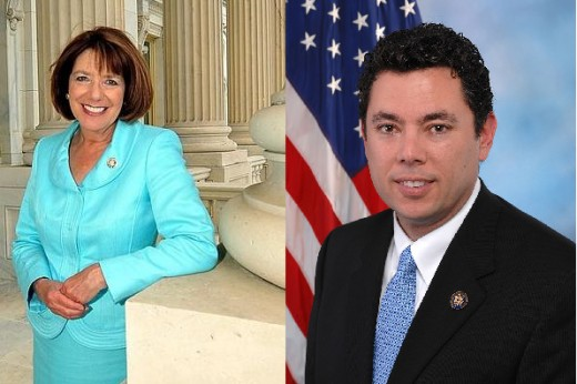 On the left is Susan Davis, the lovely Postal-friendly legislator from San Diego.  On the right is Jason Chaffetz, perhaps just an evil Issa clone after all?