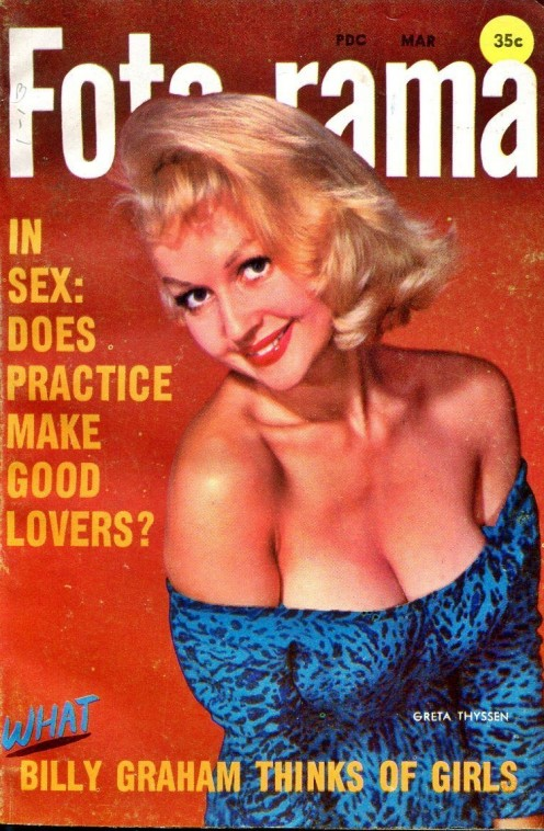 Greta on the cover of a 1958 issue of Foto-rama
