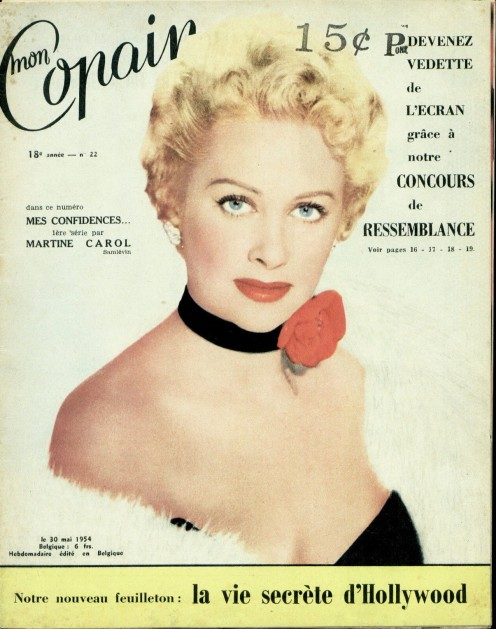 Martine on cover of Mon Copain  1954