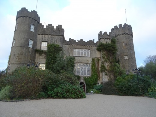There are a lot of beautiful places to visit in Ireland (Malahide Castle near Dublin on the picture).