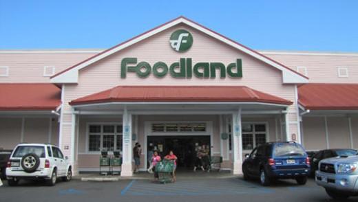 Foodland Supermarket at Waimea on the Big Island.