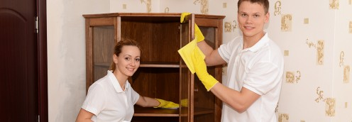 Cleaning Cupboards As Part of Apartment Bond Cleaning
