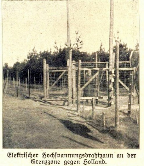 WW1: The high voltage border obstacle on the Belgian Dutch border of 1915-1918