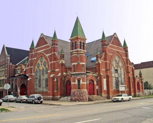Pilgrim Church, Detroit, which is featured in the film.