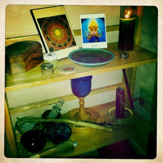 Set up an altar to honor the elements and one for your ancestors.