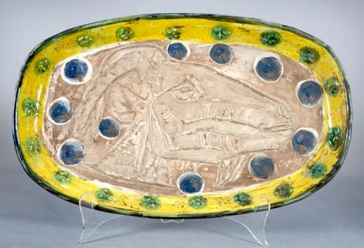 """Pablo Picasso ceramic """"Tete de chevre de profil (Goat's Head in Profile), 1952"""""""