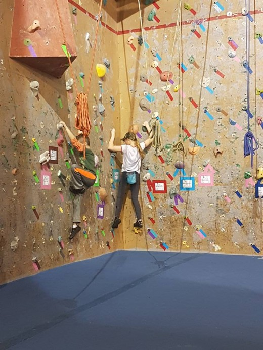 I put the kids in Climbing Club so they are able to keep active and help the time fly by.