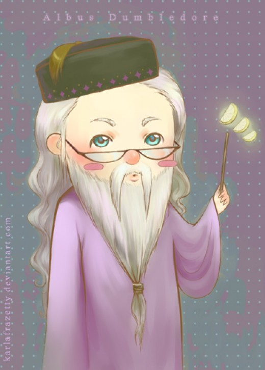 This is a chibi version of Albus Dumbledore, the headmaster of Hogwarts School of Witchcraft and Wizardry