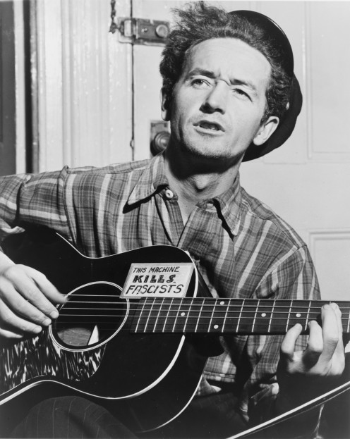 Folk music icon, Woody Guthrie