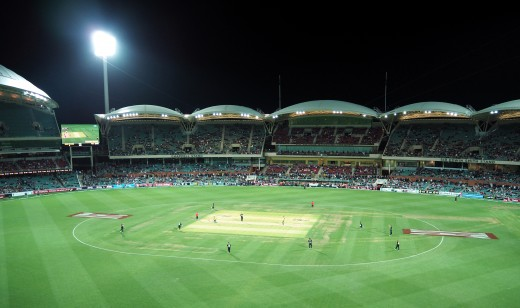 The Adelaide Oval during a T20 game.