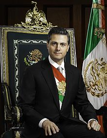 Enrique Pena Nieto, 57th president of Mexico  born 20 July 1966 Atlacomulco, Mexico
