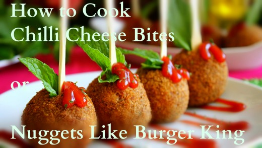 Yummy Chilli Cheese Bites or Nuggets ready to serve.