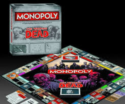 Relive the popular zombie themed television show, Monopoly style with this scary looking board game.