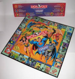 All your favorites are in this Monopoly board game including Superman, Batman and Wonder Woman.