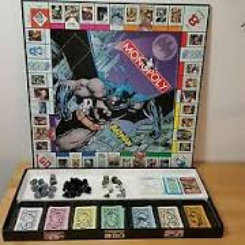 Batman and all of his enemies are in this Monopoly game including The Joker, The Riddler and The Penguin.