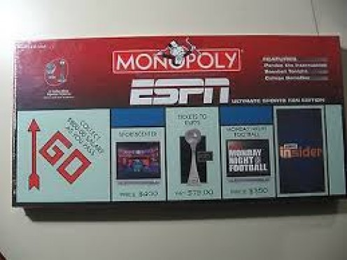 ESPN Monopoly has game play related to several top sports and teams.