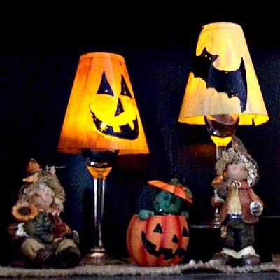 Halloween goblet lamp craft feltmagnet making a halloween goblet lamp shade aloadofball Images