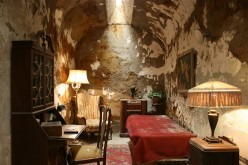 Al Capone's cell at Eastern State Penitentiary.