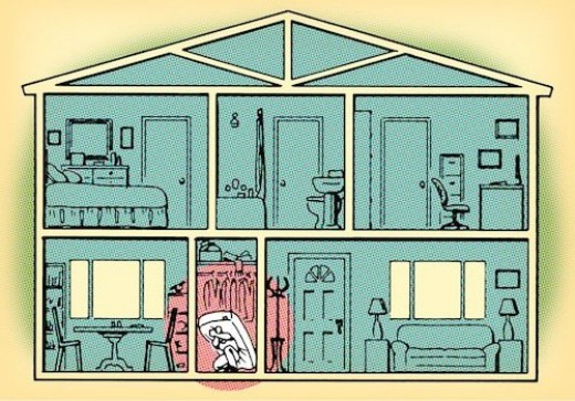 Seek the safety of n interior room in dwellings without a basement