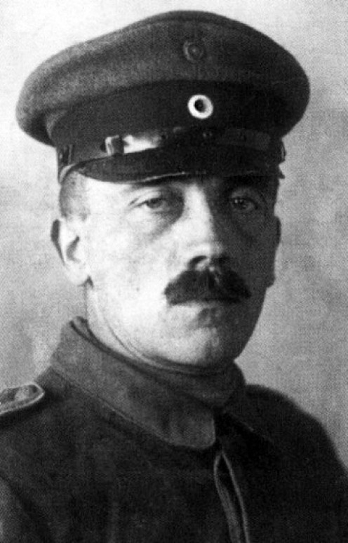 Adolf Hitler as a soldier during the First World War (1914 - 1918)
