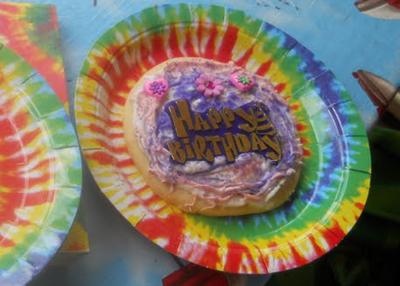 Tie Dye Birthday Cookie