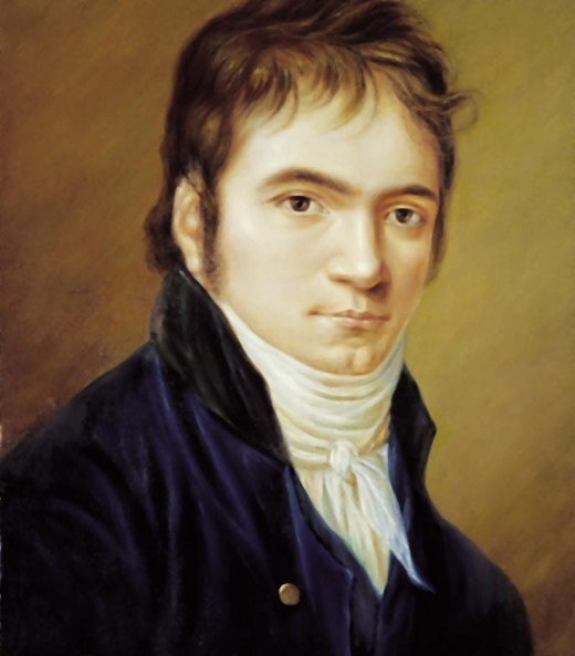 1803 portrait of Beethoven, painted on ivory by Christian Horneman
