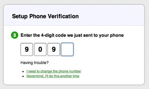 Example SMS Verification
