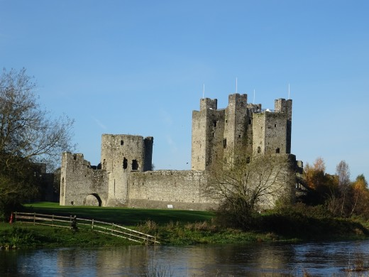 Trim Castle is very scenic castle next to the River Boyne.