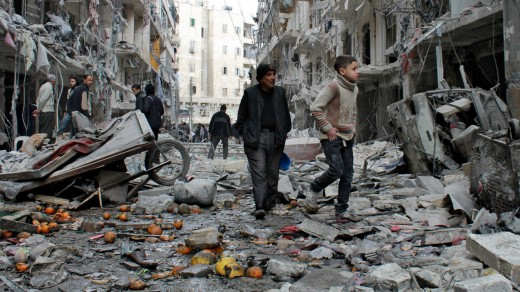 Bombing has left many Syrian cities in ruins