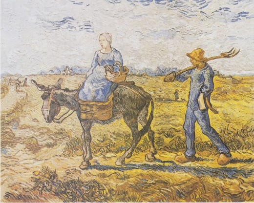 After Millet (One of Van gogh's works in 1890)