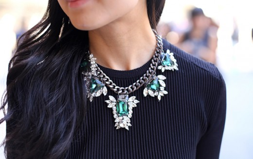 Wearing a pretty necklace helps glam up any outfit for when you go out salsa dancing!