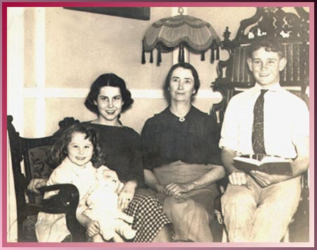 Nellieanna, doll, Sister Ruth, Mother and Brother Harold