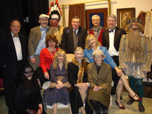 The Marlow Players after a Stage production a few years ago.
