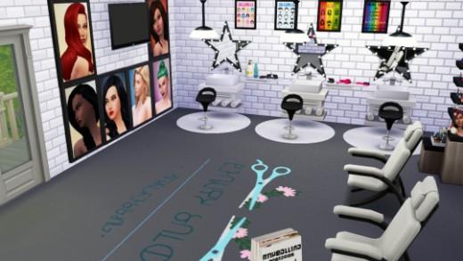 Make a beauty salon with decor items with the Beauty Salon set!