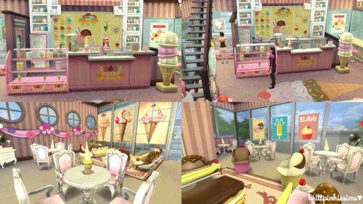 Make your own retail or Dine Out restaurant with the Ice Cream Parlor set!
