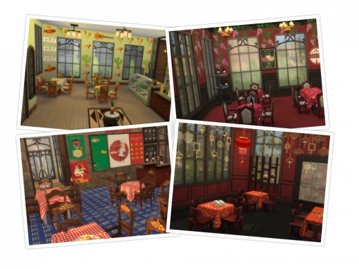 brittpinkiesims made a DIY Restaurant Set for the Dine Out game pack, which includes over 300 objects to decorate a variety of restaurants with!