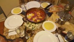 Moroccan  Kufta with Eggs and Tomato Sauce
