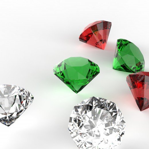 Colored gemstones are a nice alternative to the traditional diamond center stone.