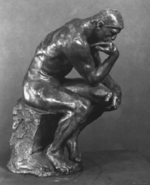 The Thinker, a late nineteenth century bronze sculpture by Auguste Rodin. (National Gallery of Art, Washington, D.C.)