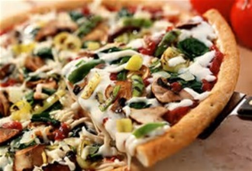 Cooked Veggie Pizza