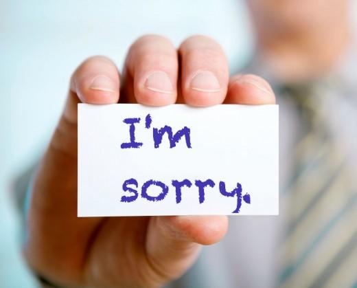 Apologize for the boredom