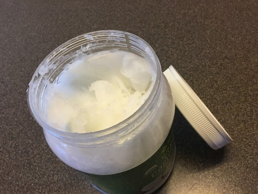 Jar of coconut oil