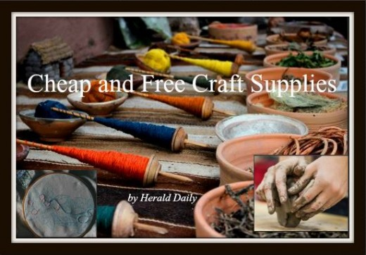 Find craft supplies for cheap or free