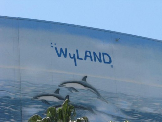 "Planet Ocean"", one of artist (Robert) Wyland's Whaling Walls.   At 116,000 square feet , it is the world's largest mural. The mural depicts migratory gray whales life that can be found in the waters off Long Beach."