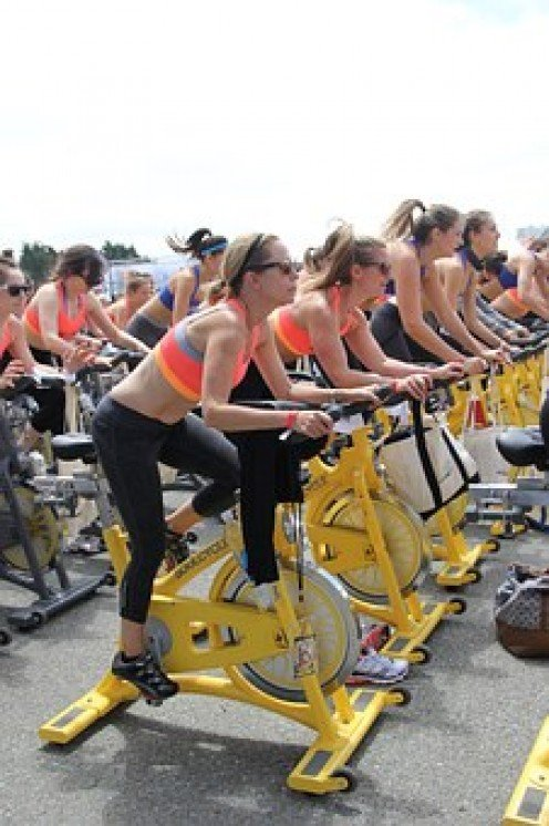 Spinning class or riding a  stationary bike. No difference.